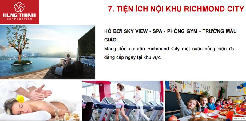 Tiện ích Căn hộ Richmond City Nguyễn Xí