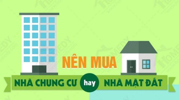 Nên mua nhà chung cư hay nhà phố