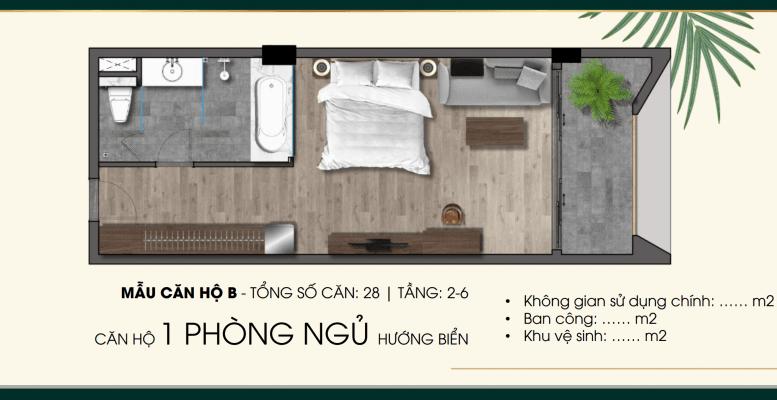 Mẫu căn hộ B Parami Hồ Tràm