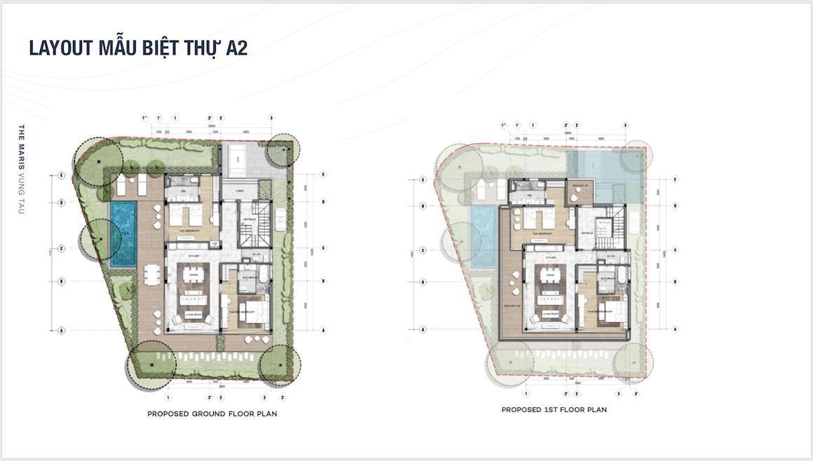 Mẫu biệt thự A2 The Maris Vũng Tàu