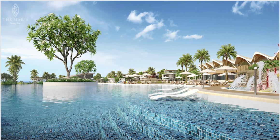 Hồ bơi tràn dự án The Maris Vũng Tàu