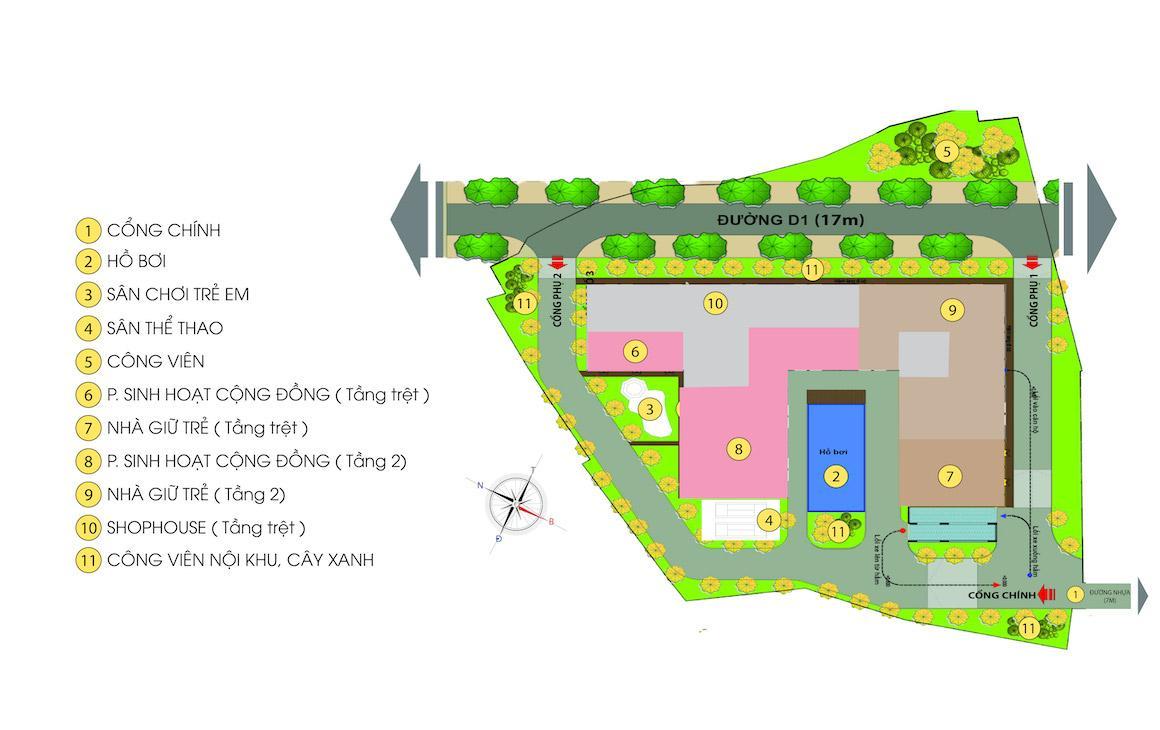 Tiện tích nội khu Căn hộ Bcons Green View