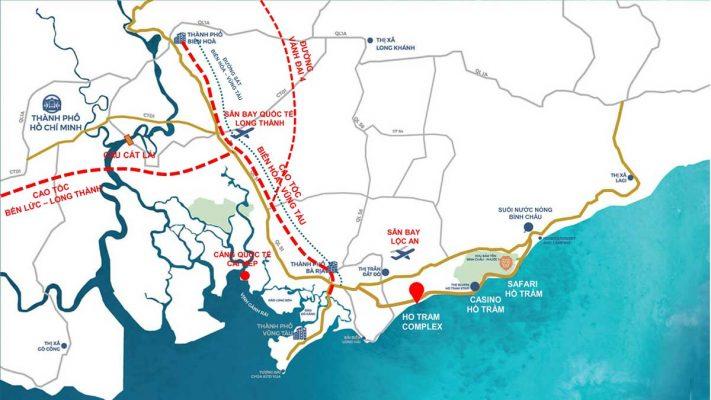 Liên kết vùng dự án Hồ Tràm Complex