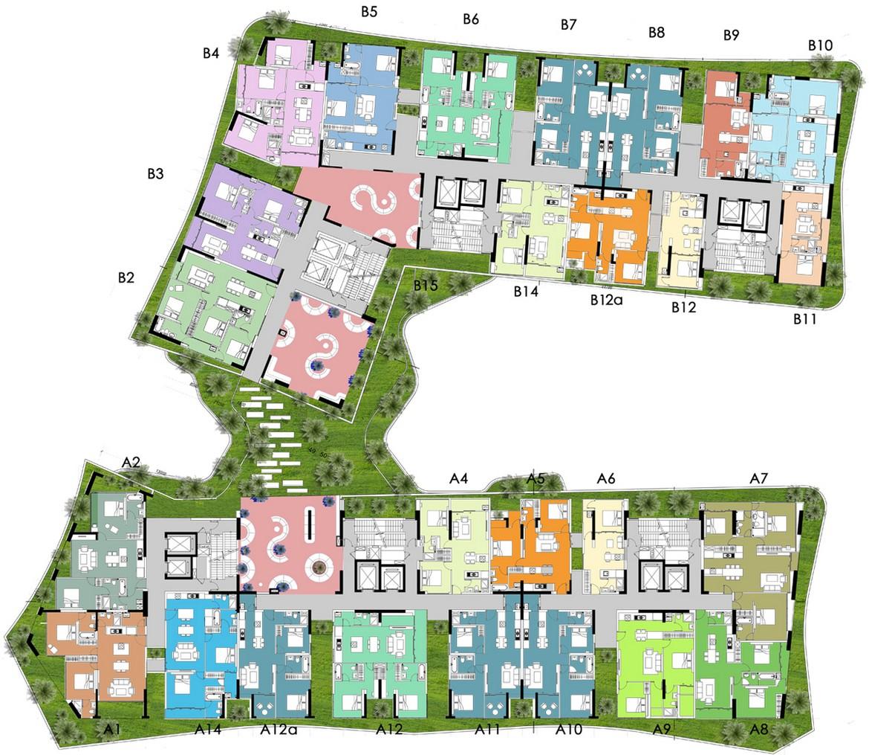 Mặt bằng dự án căn hộ chung cư Sky Park Bình Chánh