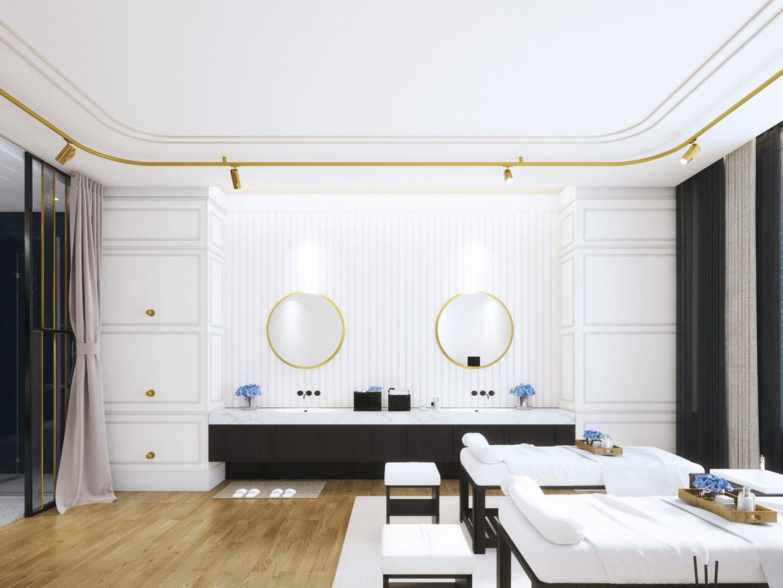 Nhà mẫu phòng khách căn hộ Sky Park Bình Chánh