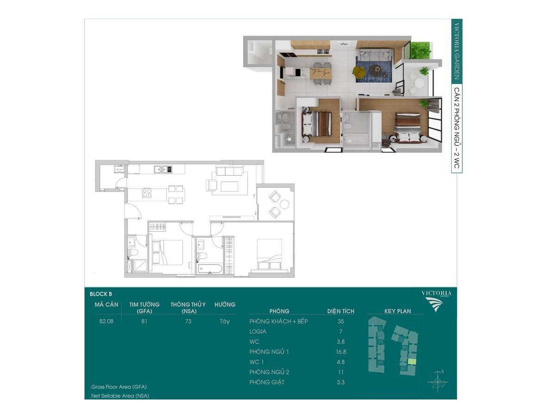 Thiết kế căn hộ Sky Park Bình Chánh