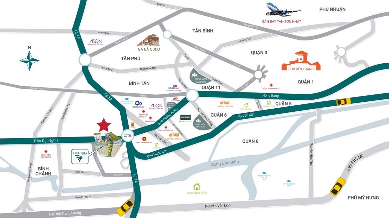 Vị trí căn hộ Sky Park Bình Chánh