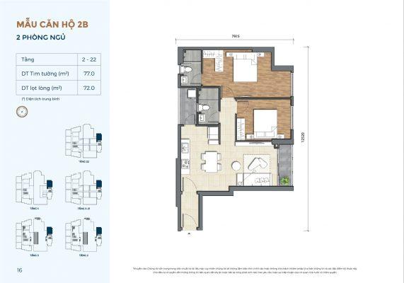 Mẫu căn hộ 2B Precia