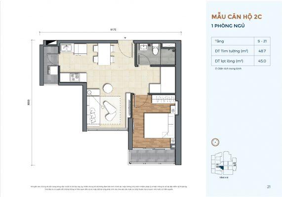 Mẫu căn hộ 2C Precia