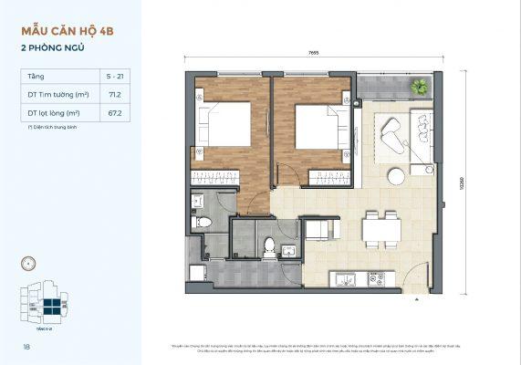 Mẫu căn hộ 4B Precia