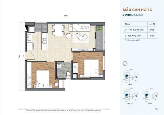 Mẫu căn hộ 4C Precia