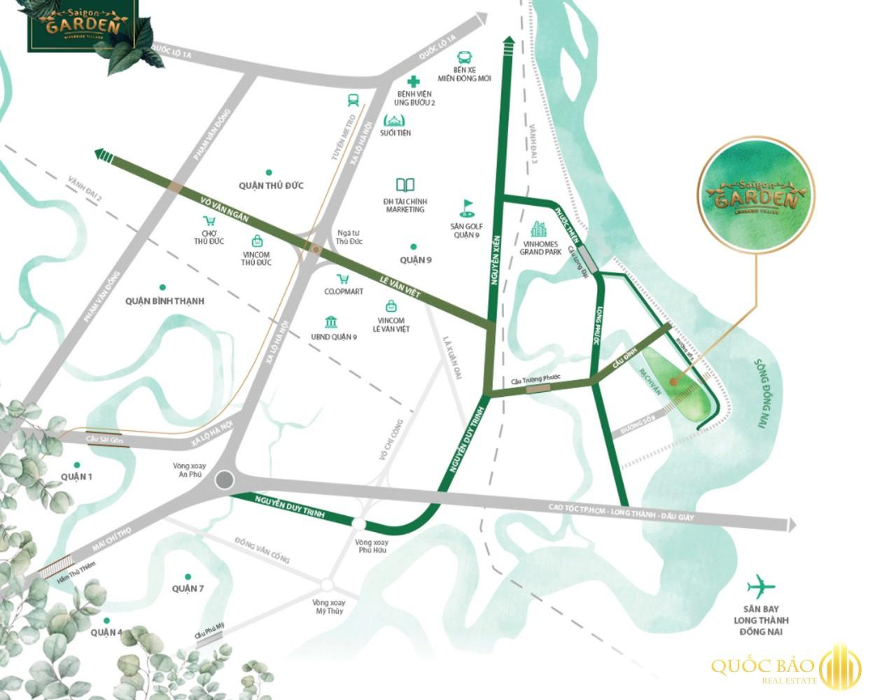 Vị trí biệt thự vườn Quận 9 Hưng Thịnh