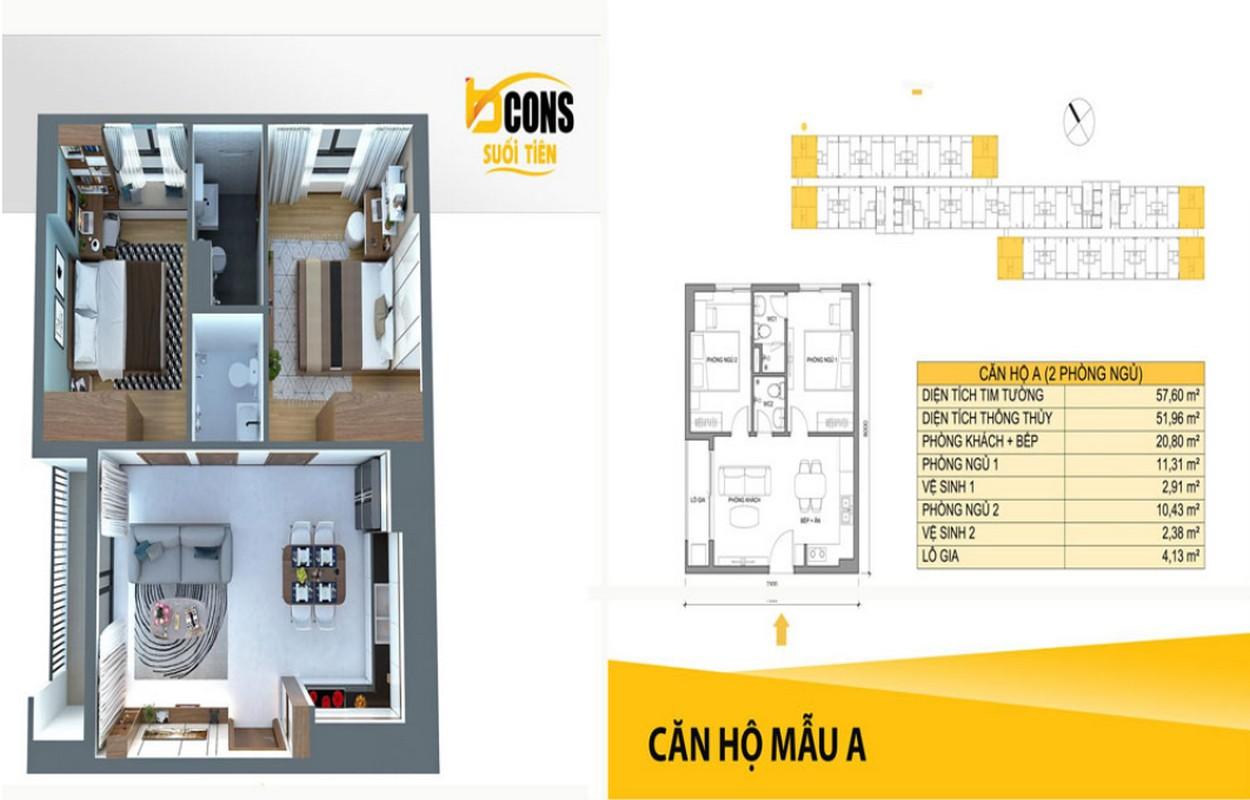 Thiết kế căn 2 PN