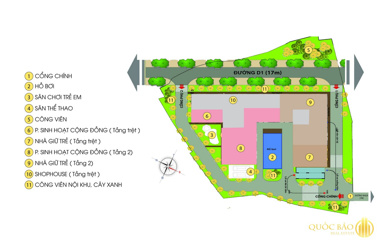 Mặt bằng tổng thể Dự án Bcons Green View