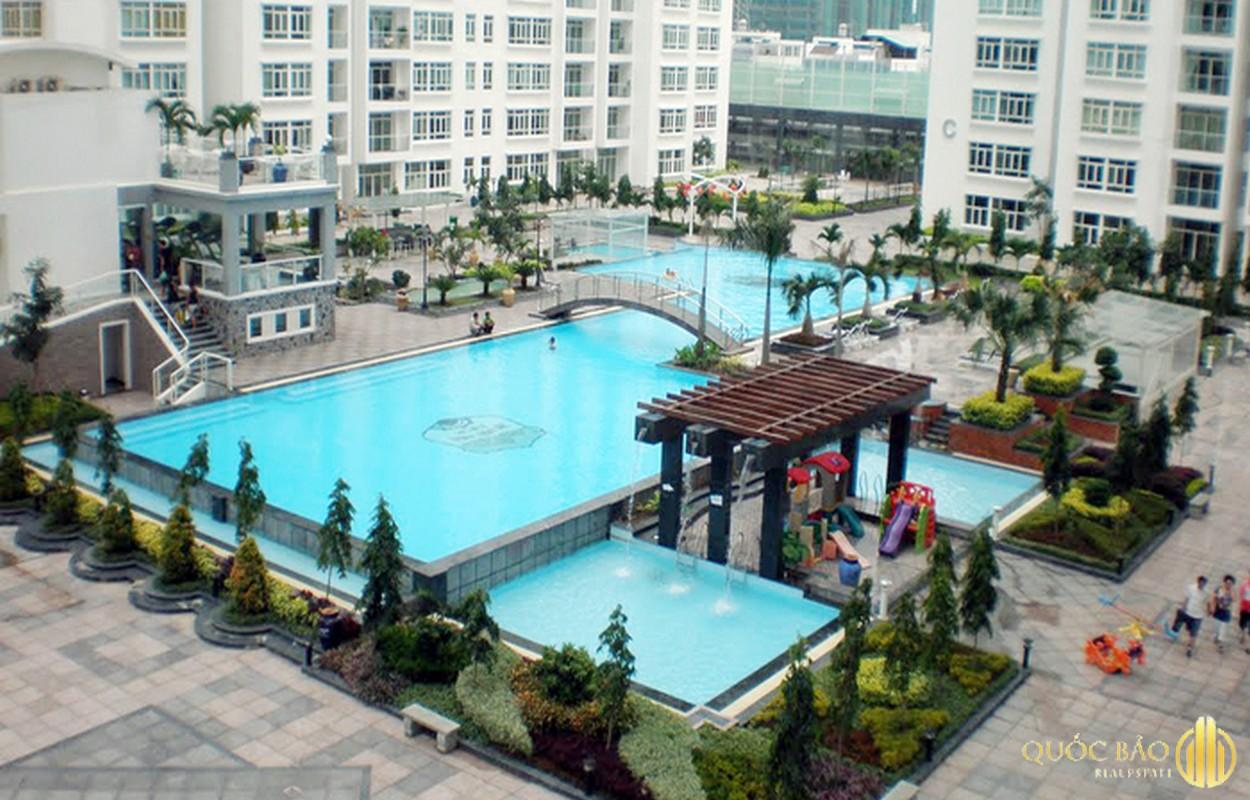 Hồ bơi Phú Hoàng Anh - Giá bán căn hộ Phú Hoàng Anh chỉ từ 1,9 tỷ