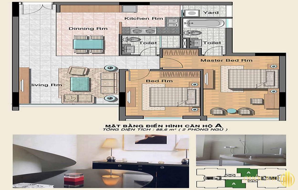 Mặt bằng Phú Hoàng Anh - Giá bán căn hộ Phú Hoàng Anh chỉ từ 1,9 tỷ