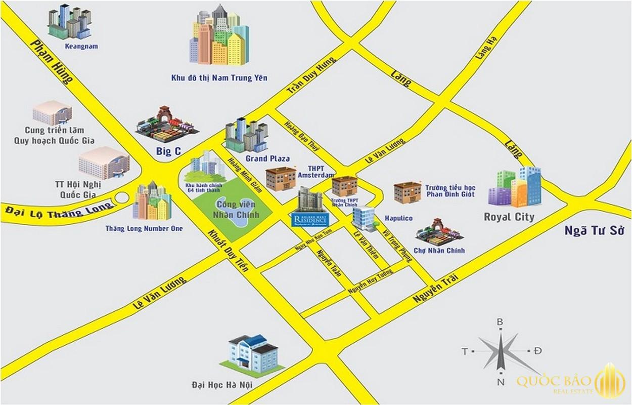 Vị trí Royal City - Bảng giá bán chung cư Royal City