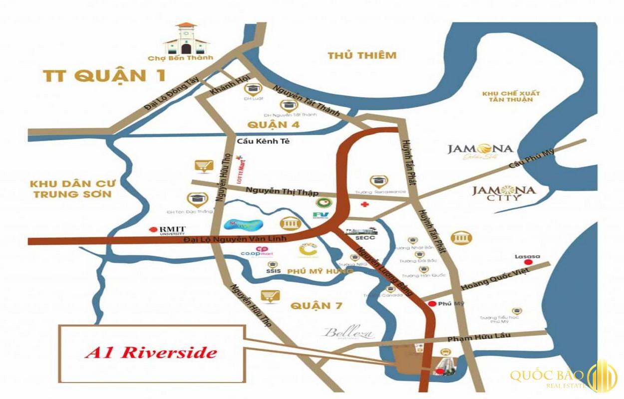 Vị trí dự án A1 Riverside Quận 7