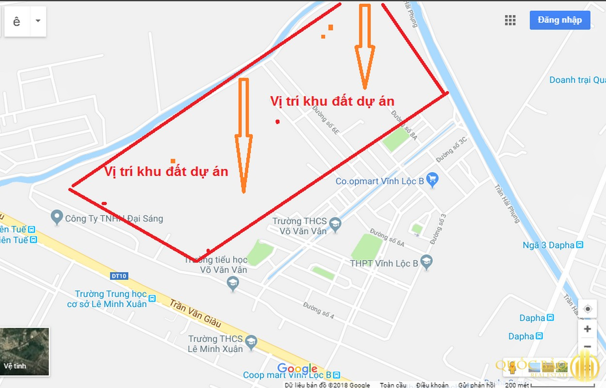 Vị trí chung cư Vĩnh Lộc B - Giá bán chung cư Vĩnh Lộc B chỉ từ 15 triệu/m2