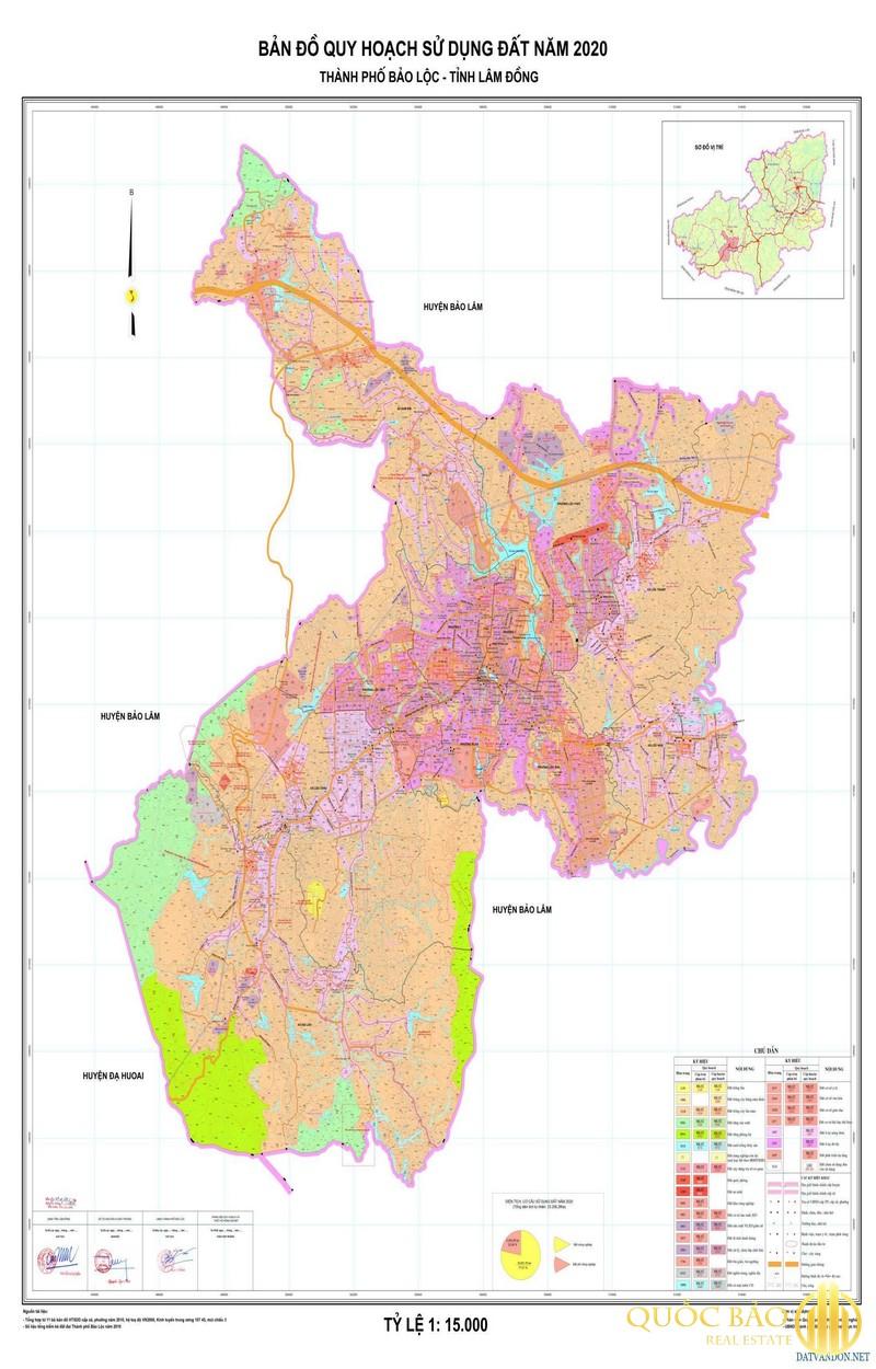 Bản đồ thành phố Bảo Lộc
