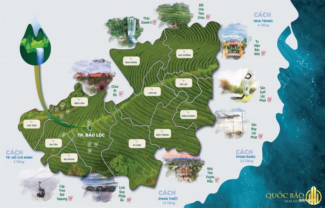 Bản đồ liên kết vùng La Beaute - Bản đồ quy hoạch thành phố Bảo Lộc