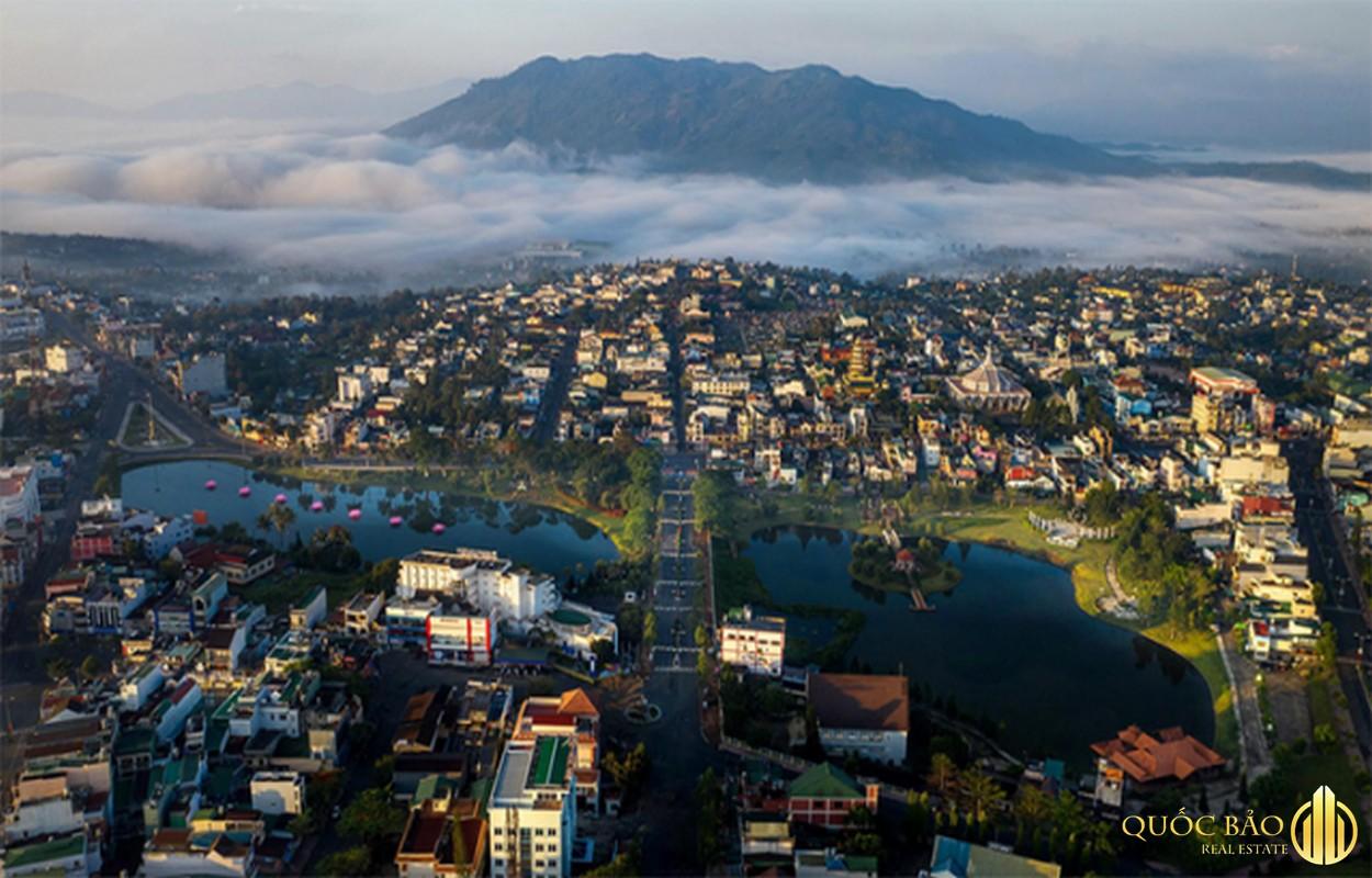 Ảnh thành phố Bảo Lộc từ trên cao