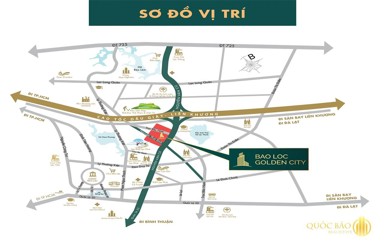 Vị trí Golden City Bảo Lộc- Bản đồ quy hoạch thành phố Bảo Lộc