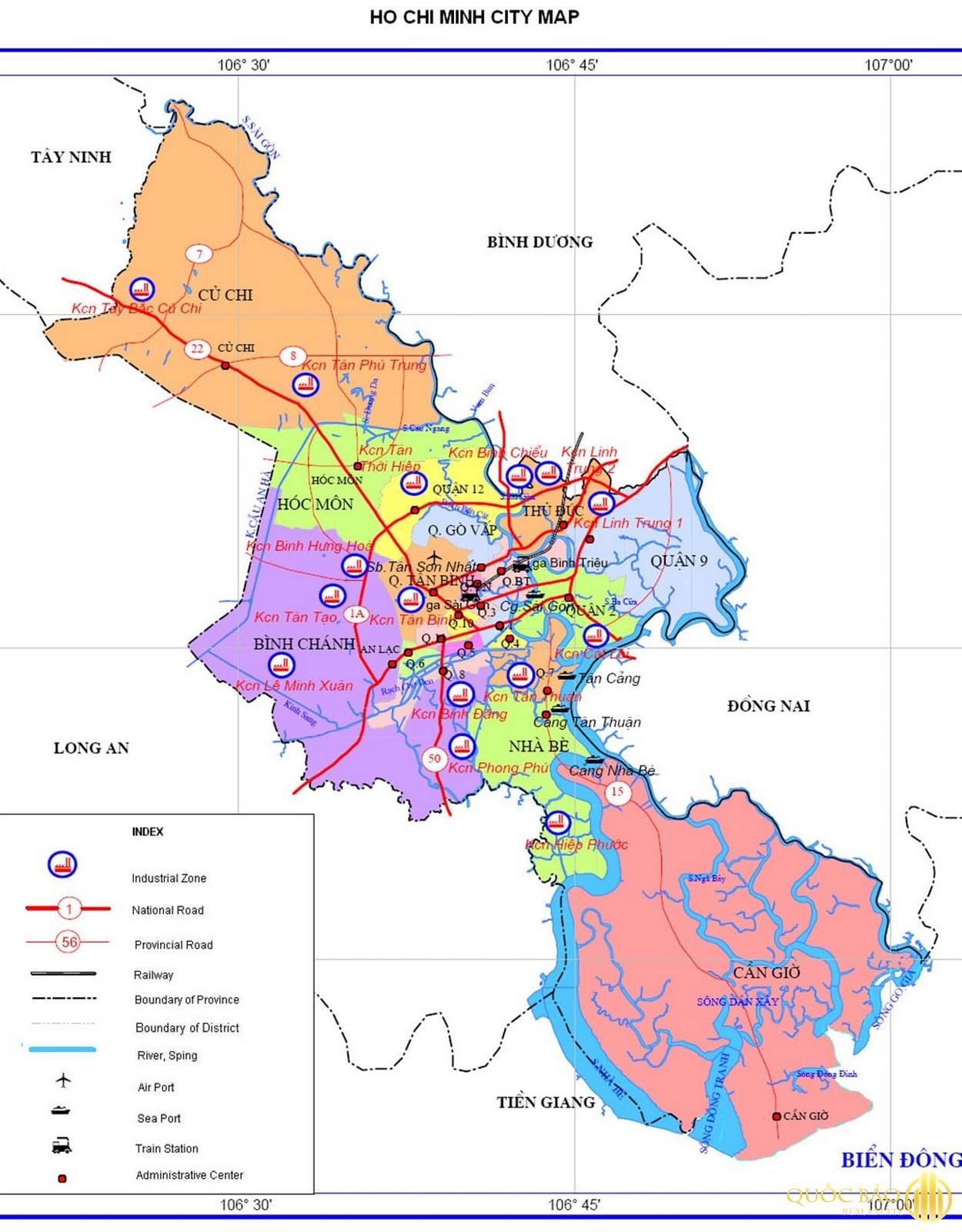 Bản đồ thành phố Hồ Chí Minh
