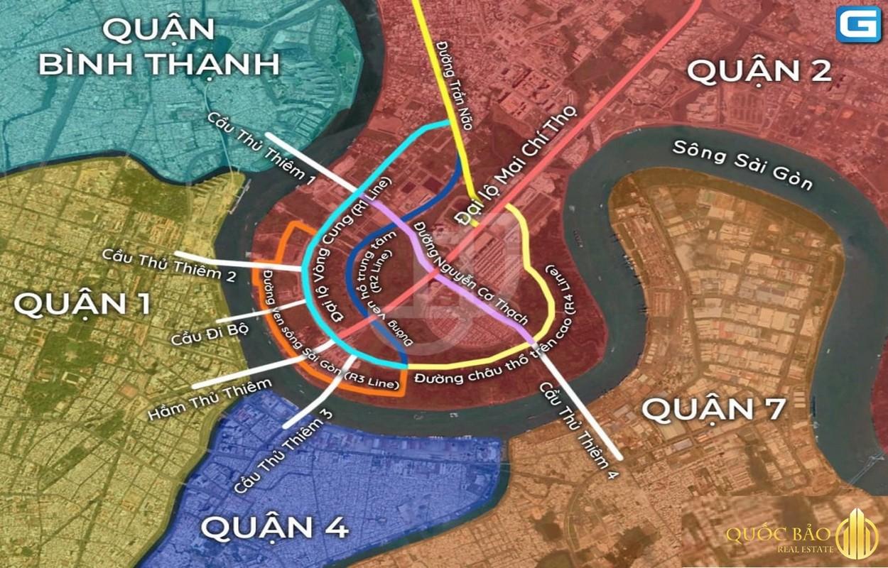 Tổng quan các công trình cầu nối liền khu đô thị Thủ Thiêm