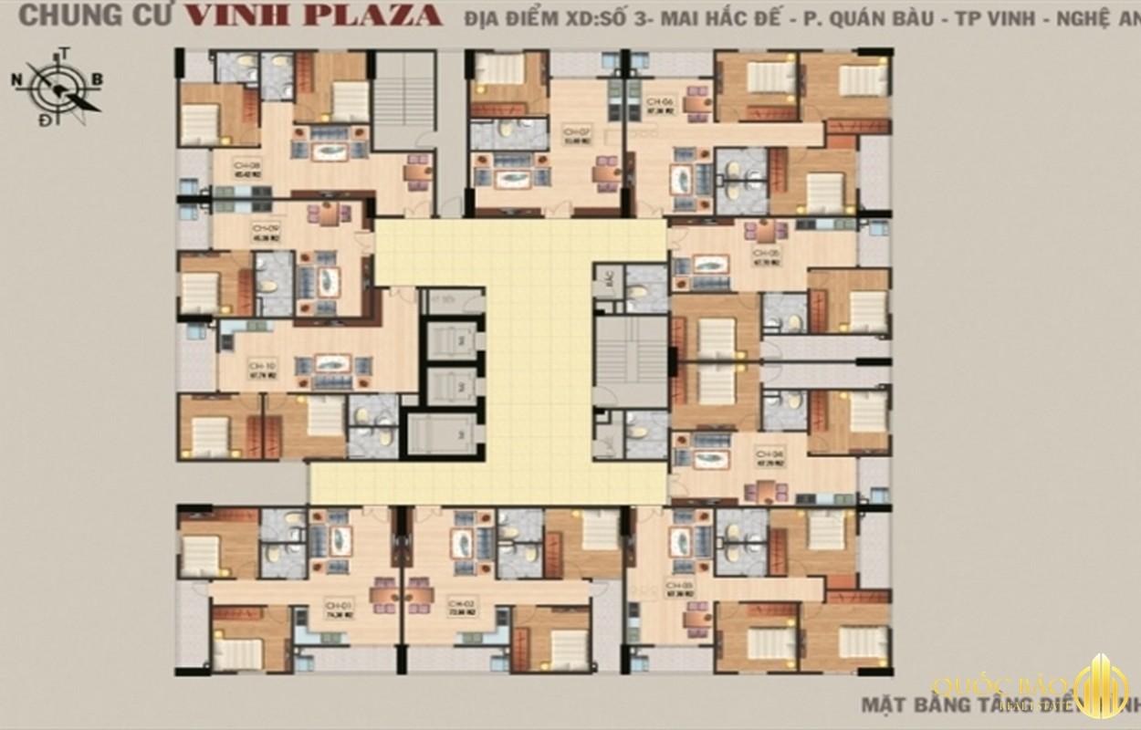 Mặt bằng chung cư Vinh Plaza