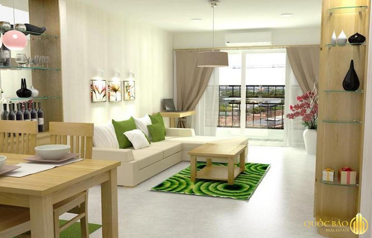 Thiết kế phòng khách Chung cư 4S Linh Đông