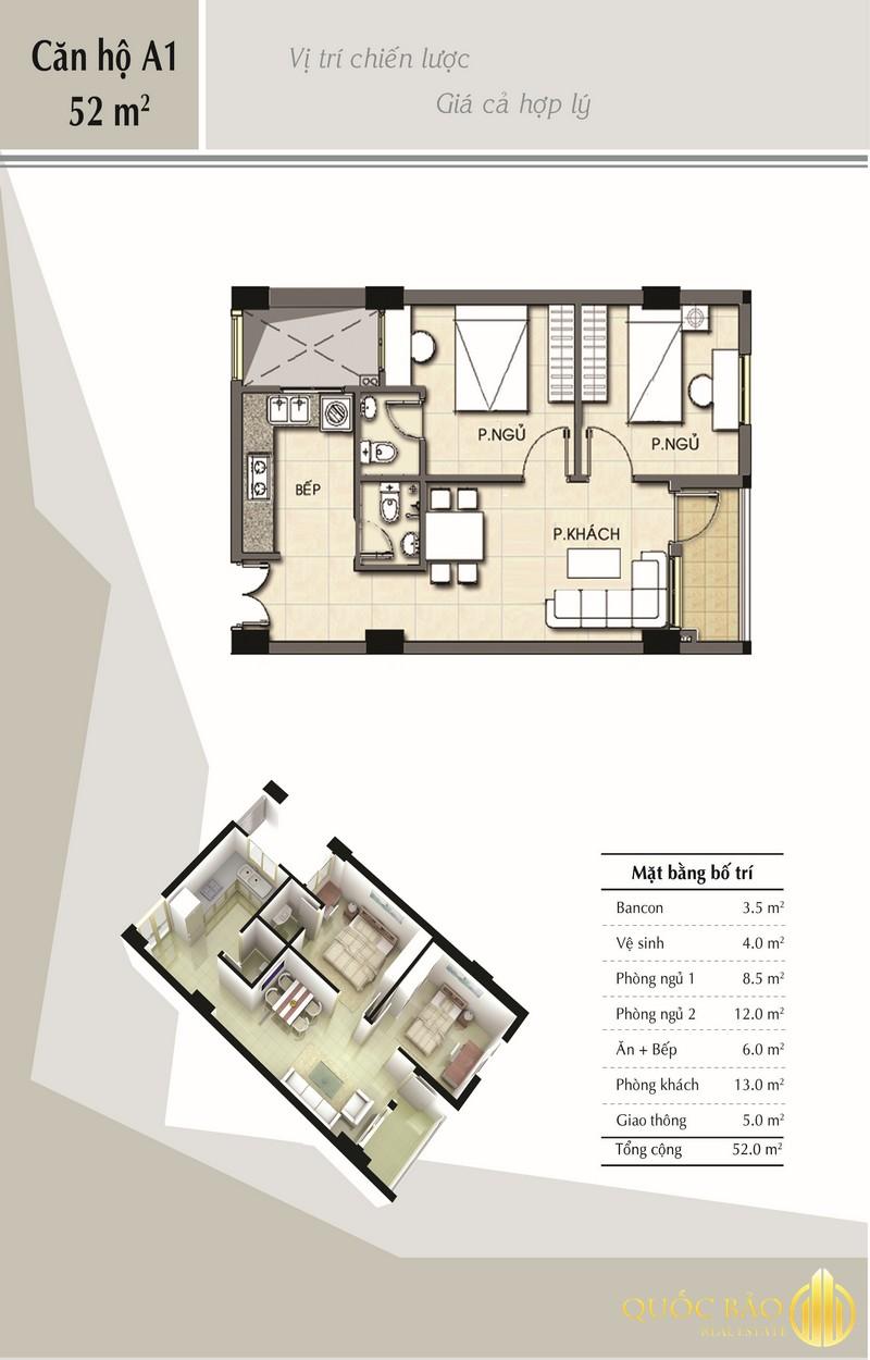 Thiết kế căn hộ mẫu Chung cư B1 Trường sa