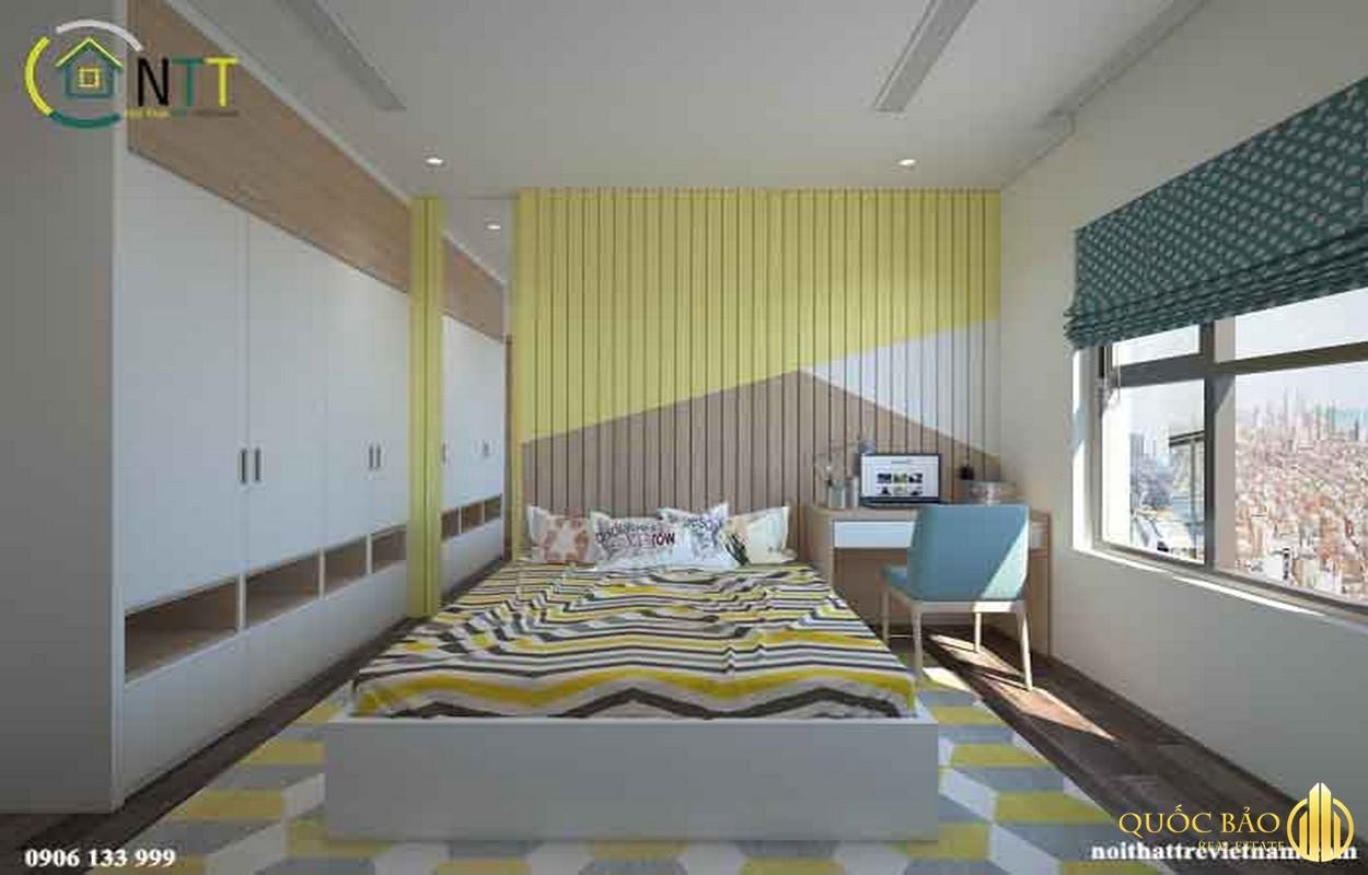 Thiết kế phòng ngủ chung cư bộ công an