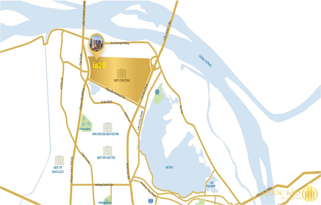 Vị trí Chung cư IA20 Ciputra - Giá bán chung cư IA20 Ciputra rẻ hiếm có tại Hà Nội