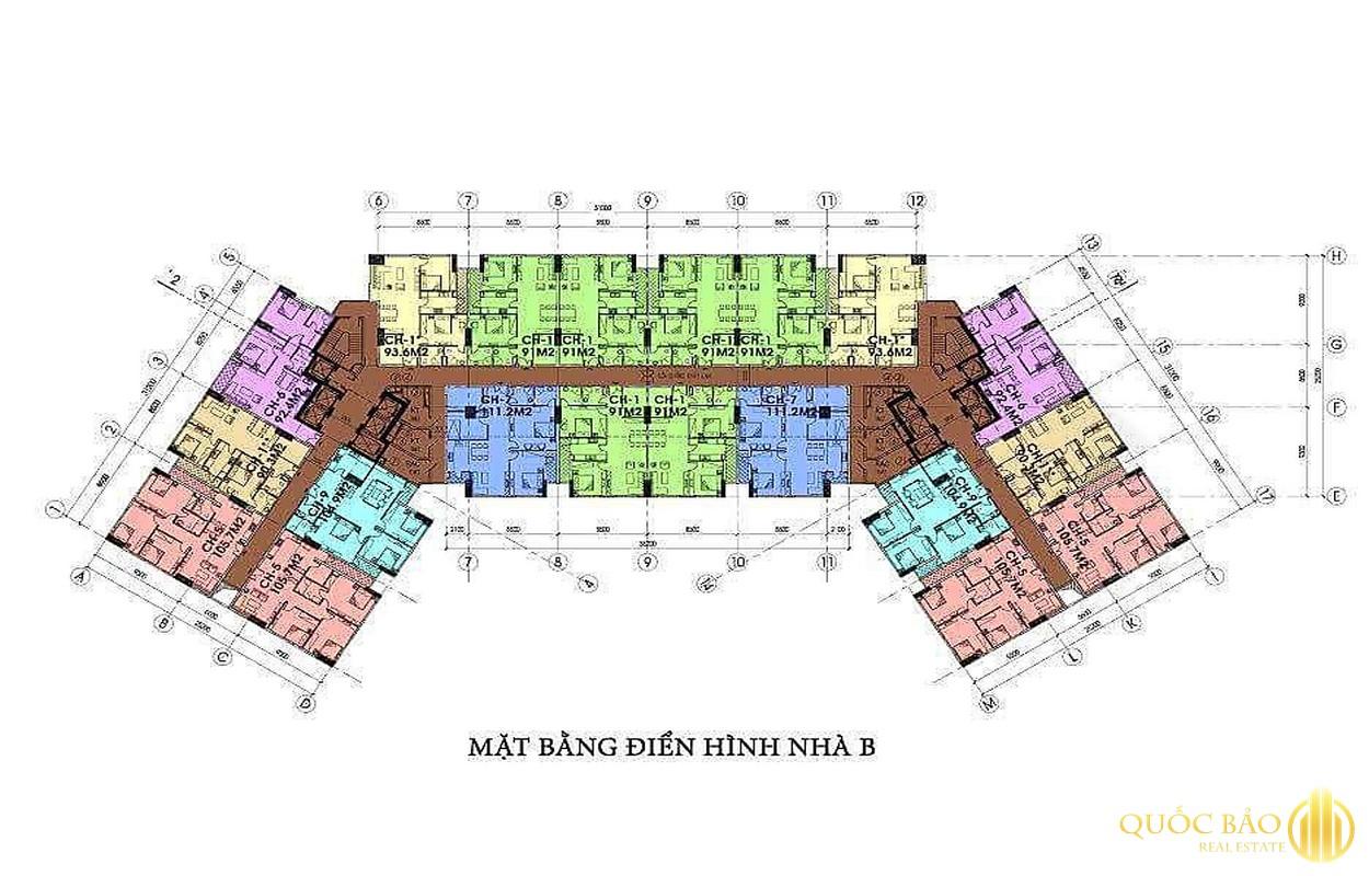 Mặt bằng chung cư IA20 Ciputra - Giá bán chung cư IA20 Ciputra rẻ hiếm có tại Hà Nội