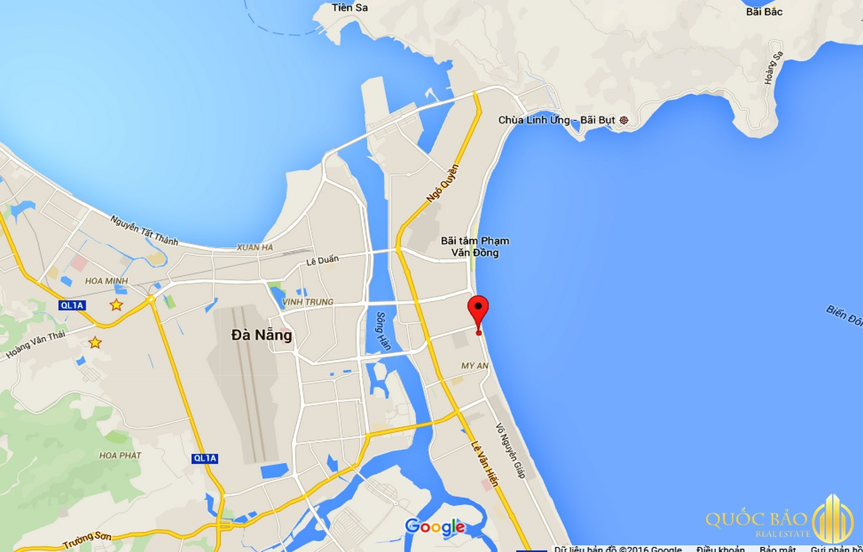 Vị trí Chung cư Mường Thanh Đà Nẵng