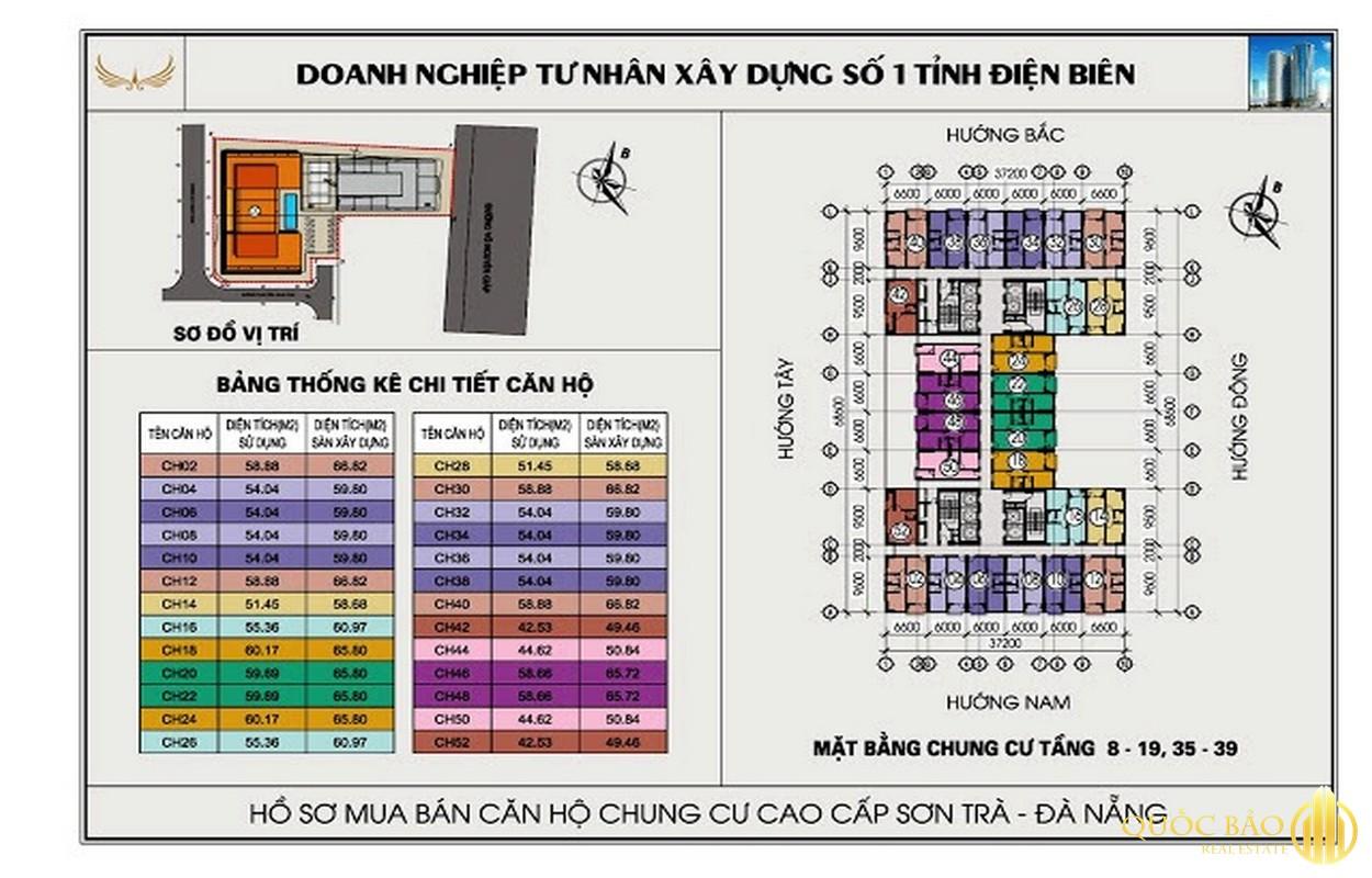 Mặt bằng chung cư Mường Thanh Đà Nẵng
