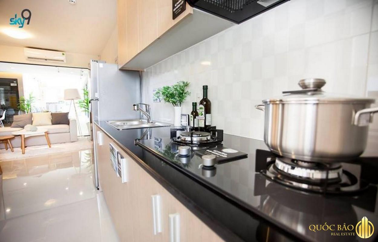 Phòng bếp nhà mẫu chung cư SKY 9 Quận 9