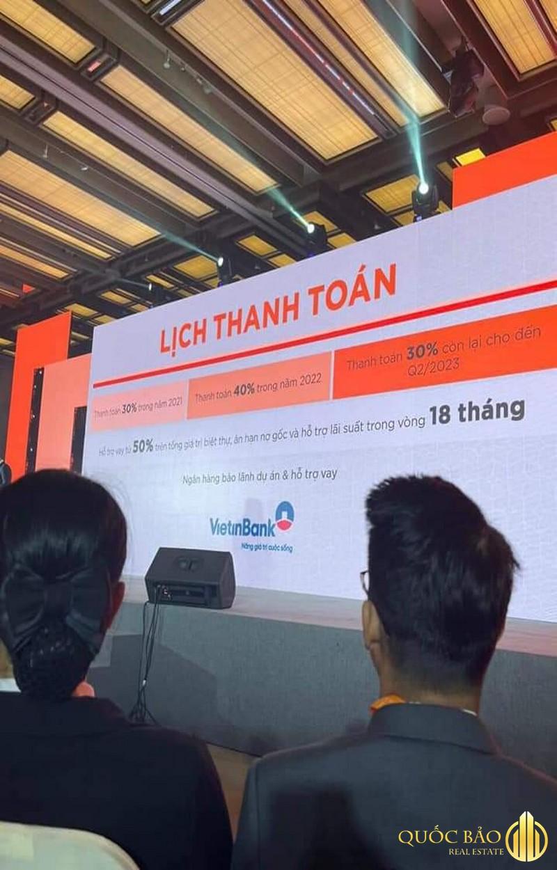 Lịch thanh toán Dự án Hyatt Regency Hồ Tràm