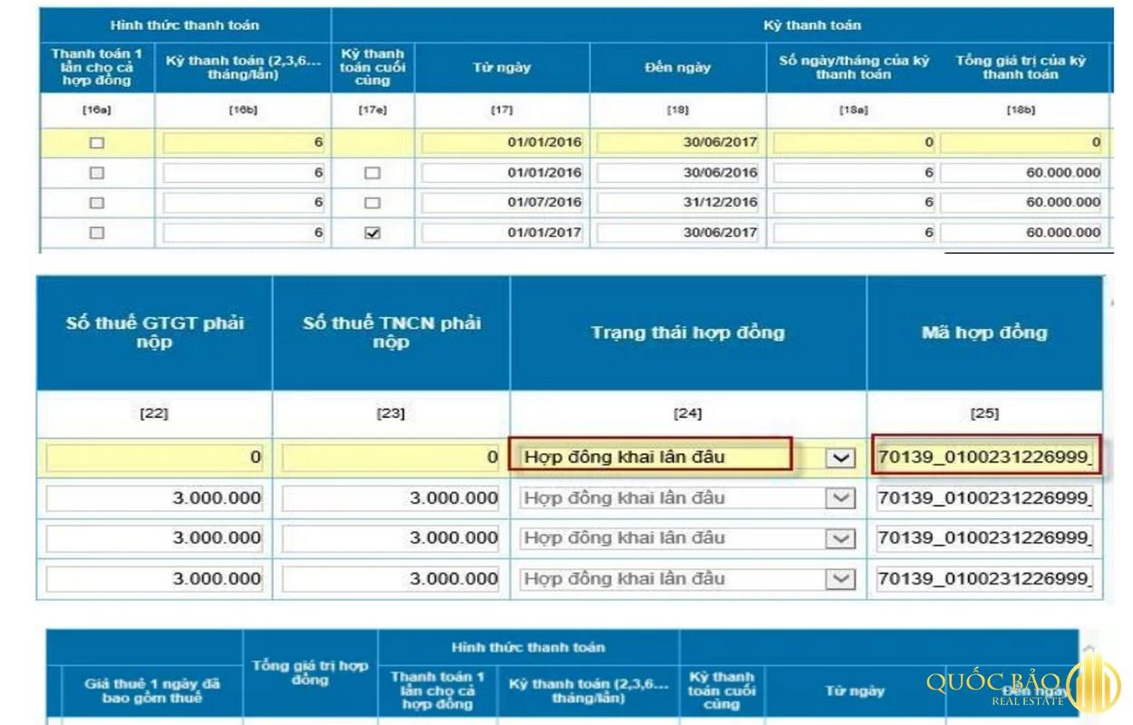 Hướng dẫn kê khai thuế cho thuê nhà qua mạng - Bước 4