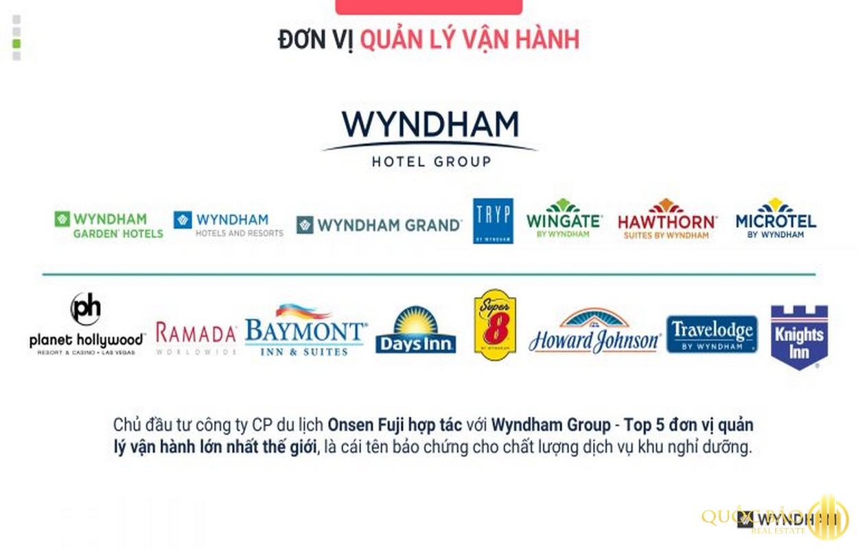 Đơn vị quản lý Shophouse liền kề Wyndham Lynn Times - Shophouse liền kề khoáng nóng