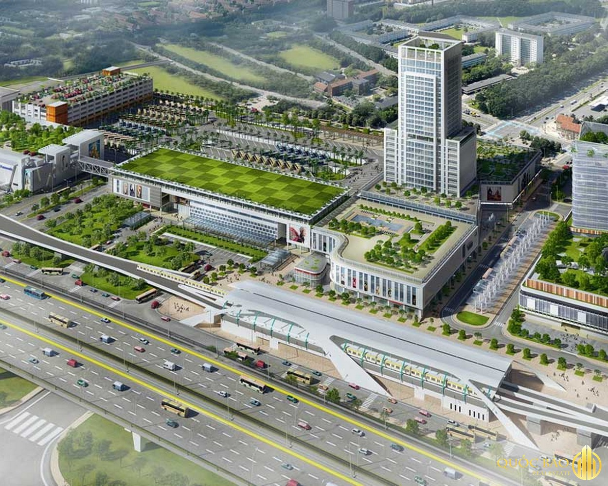 Phối cảnh bến xe Miền Đông mới - Quy hoạch đường Thống Nhất