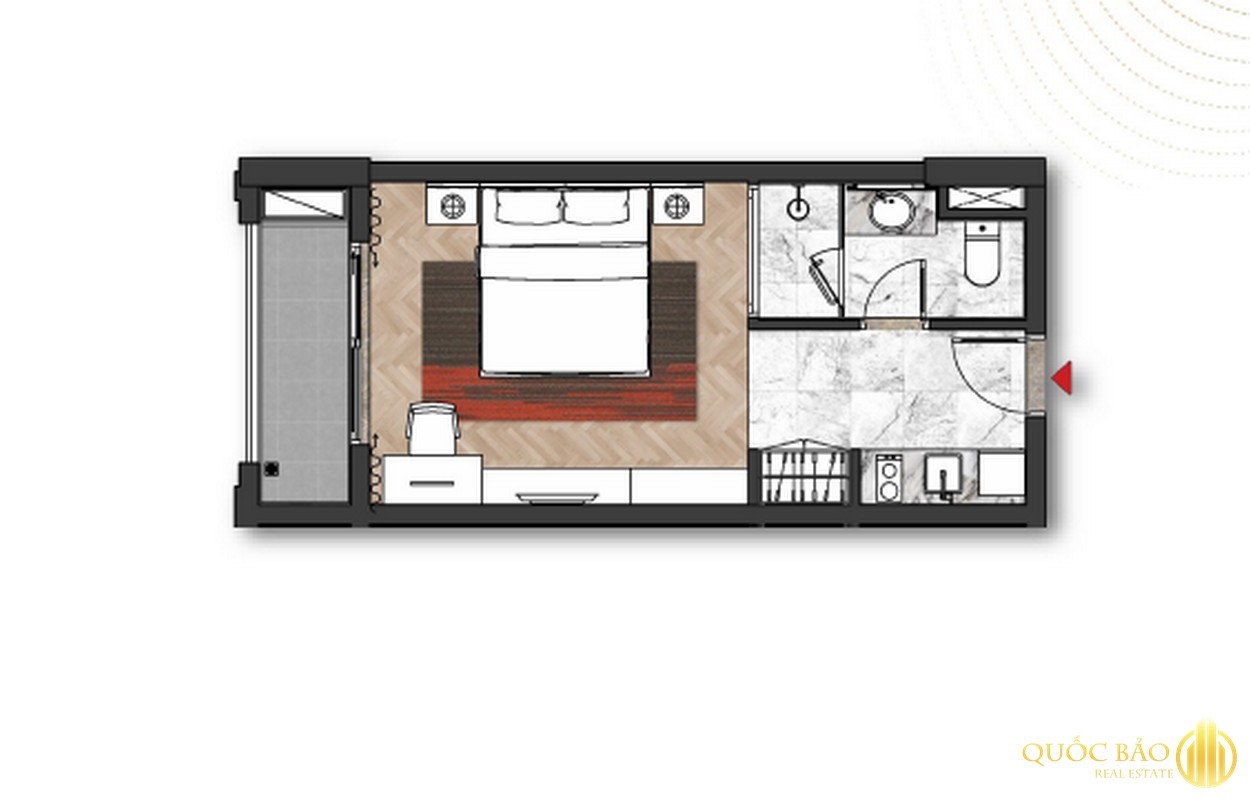 Thiết kế căn Studio