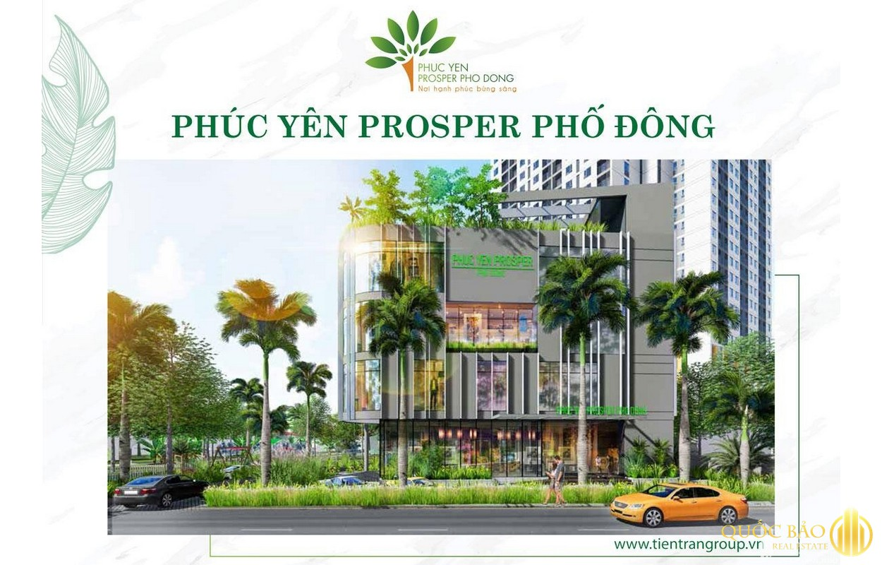 Phối cảnh dự án Phúc Yên Prosper phố Đông