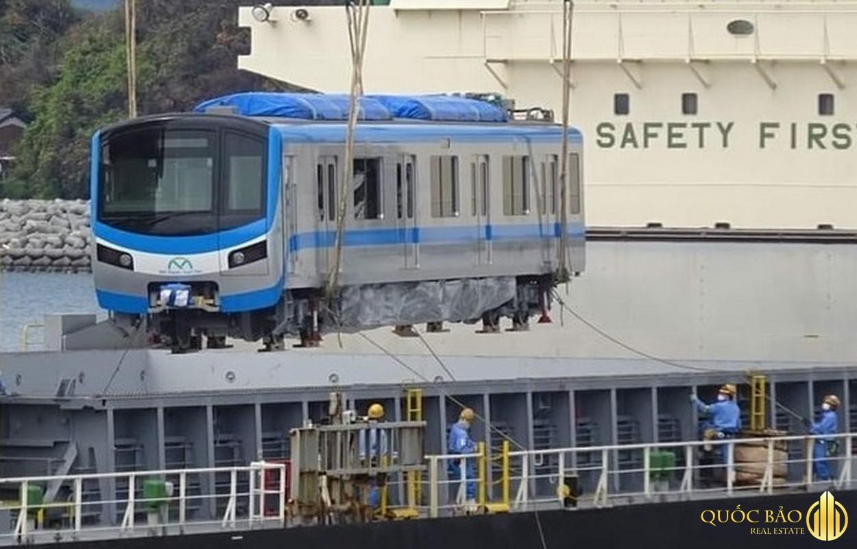 Hình ảnh thực tế toa tàu tuyến Metro số 4