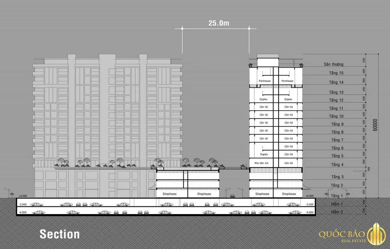 Mặt bằng xây dựng tầng cao Dragon Sky View Thủ Đức