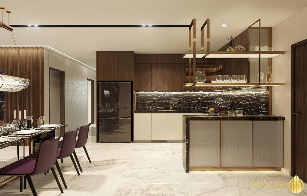 Phòng bếp nhà mẫu Opal Cityview Bình Dương