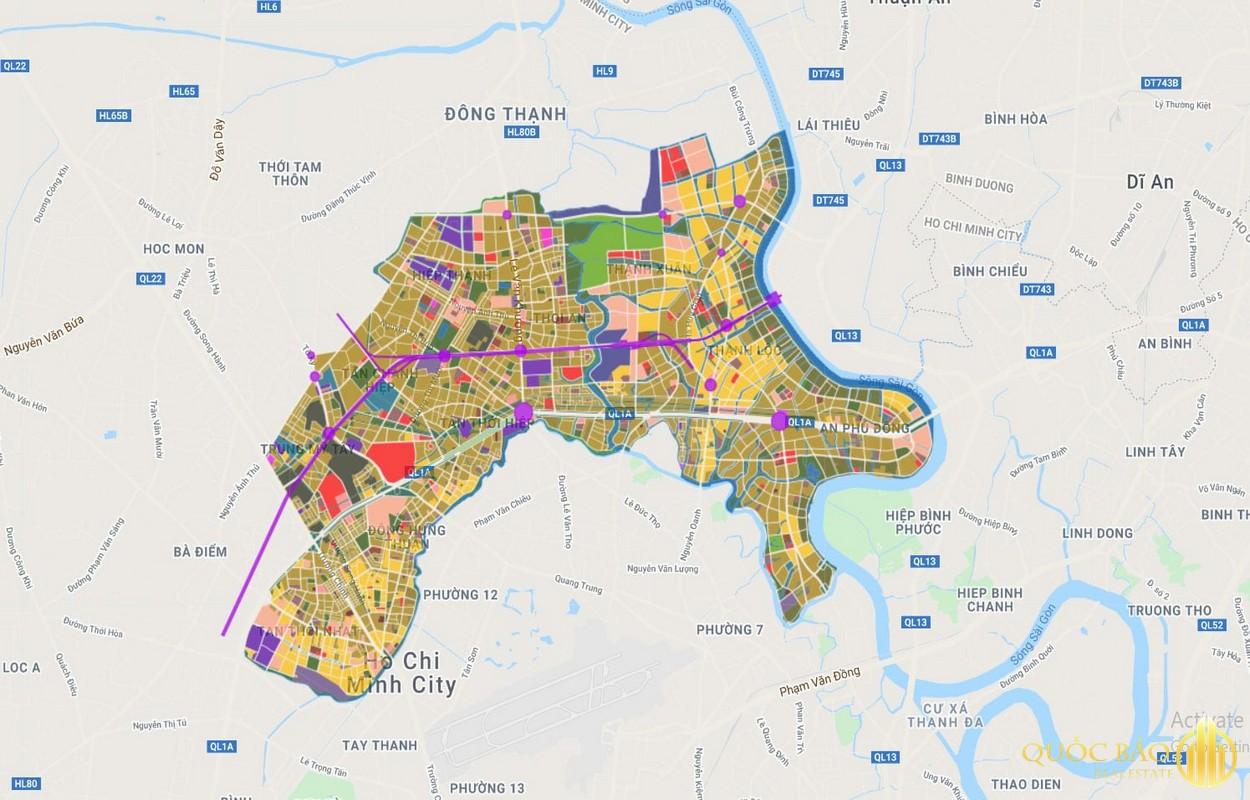 Bản đồ tổng thể quy hoạch Quận 12