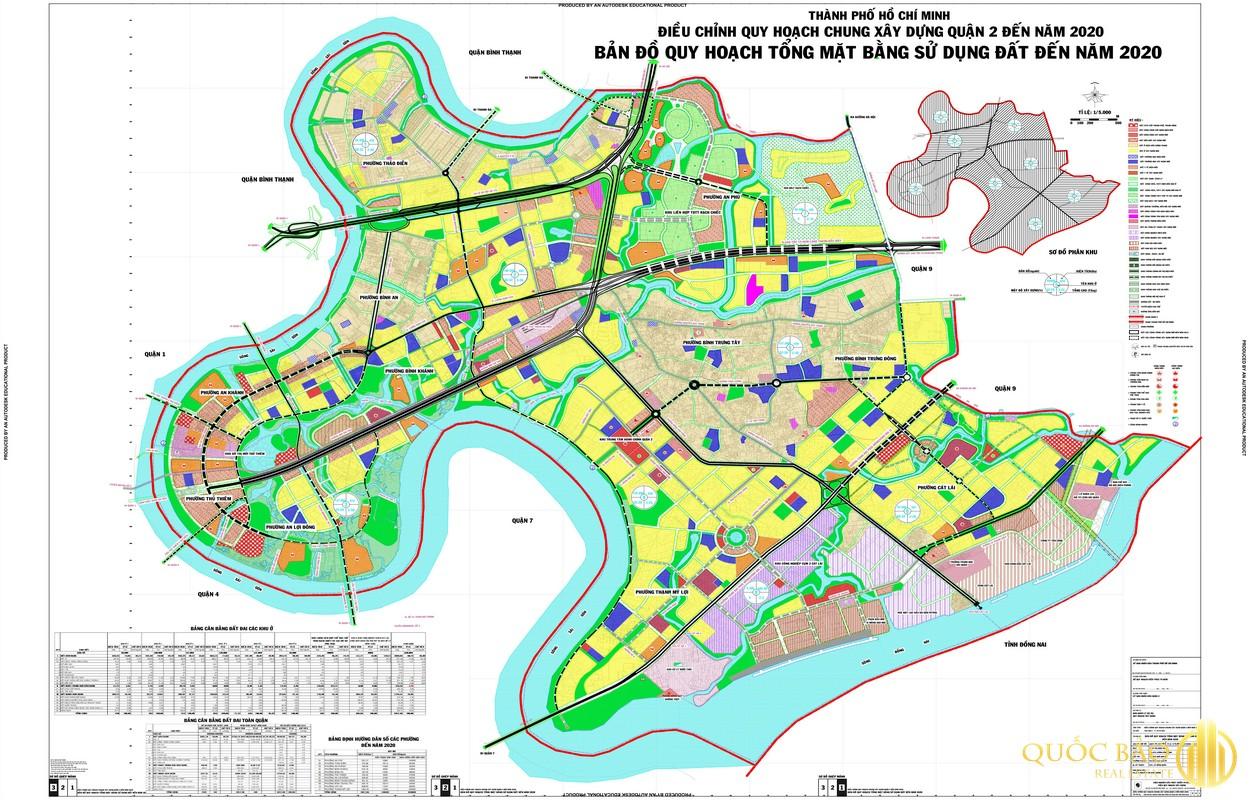 Bản đồ tổng quan quy hoạch Quận 2