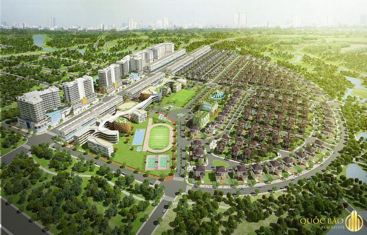 Phối cảnh tổng quan Khu đô thị Đại Quang Minh